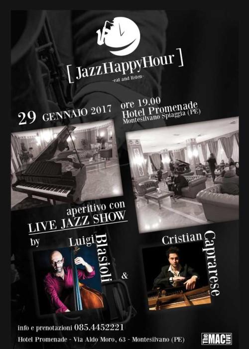 JAZZ Happy Hour 29 gennaio 2017 ore 19.00 Hotel Promenade con Luigi Blasioli e Cristian Caprarese