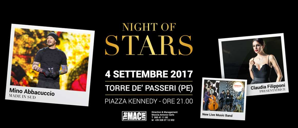 NIGHT of STARS | 4 Settembre 2017 ore 21.00