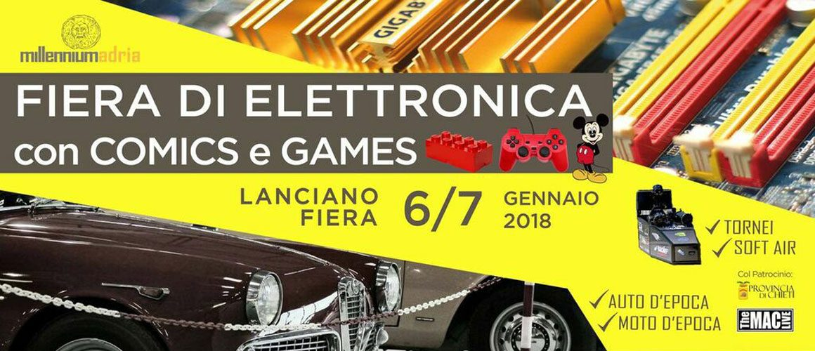 FIERA ELETTRONICA, COMICS e GAMES 2018
