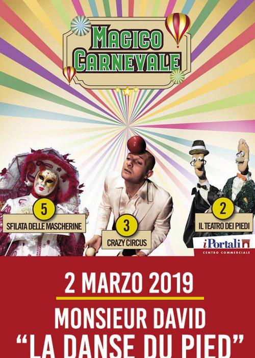 MONSIEUR DAVID 2 Marzo 2019 – Corigliano Calabro (CS)