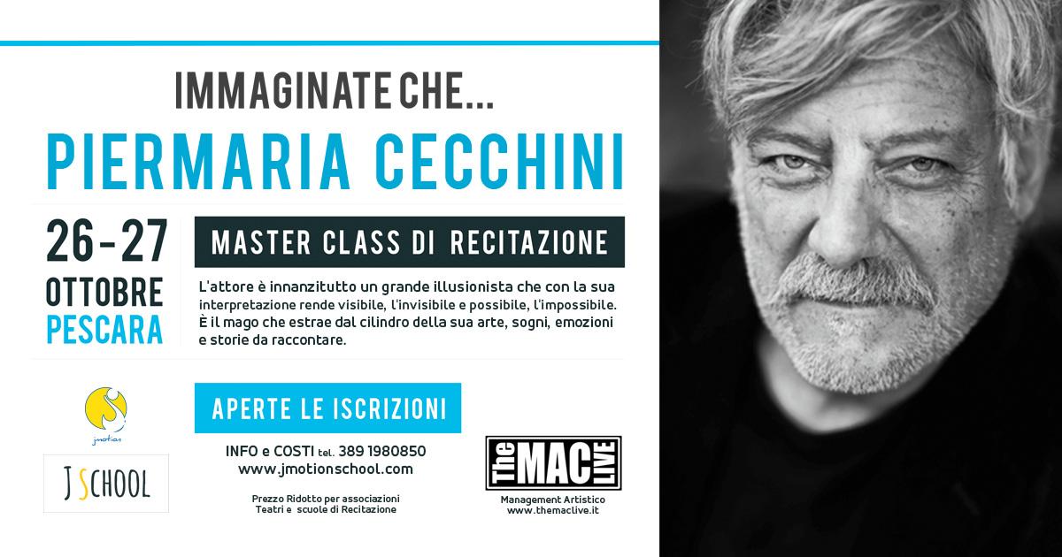 L'attore e regista Piermaria Cecchini a Pescaraper formare e selezionare nuovi talenti.