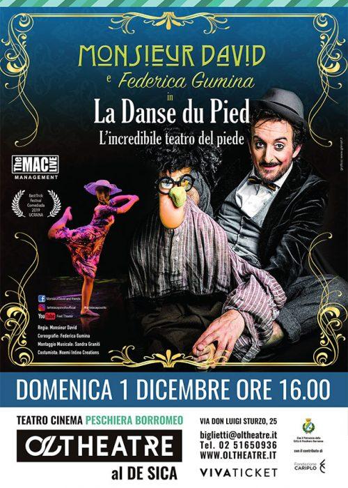 LA DANSE DU PIED – 1 Dicembre 2019 Teatro Cinema Peschiera Borromeo OLTHEATRE