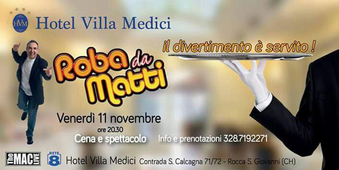 ROBA DA MATTI   Vincenzo Olivieri 11 novembre 2016 ore 20.30