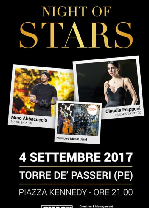 NIGHT OF STARS 4 SETTEMBRE 2017 ORE 21.00