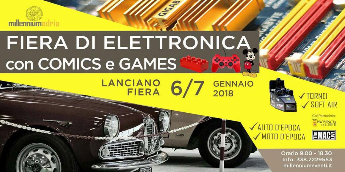 FIERA ELETTRONICA, COMICS e GAMES 2018