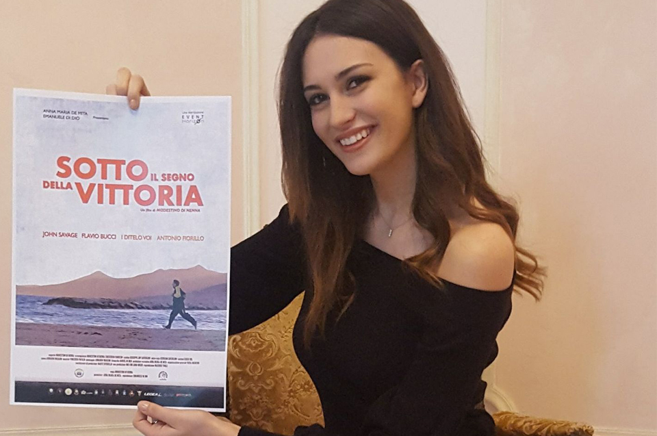 """Claudia Filipponi nel film """"Sotto il segno della Vittoria"""""""